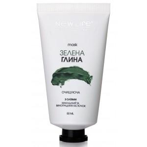 Маска з зеленої глини Очищаюча для всіх типів шкіри