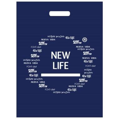 Пакет синий New Life, 40 х 45 см